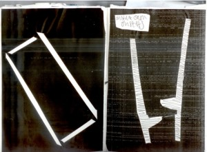 An excerpt from Jay's journal, white lines on a black page