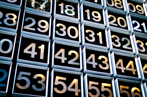 Numbers on a grid