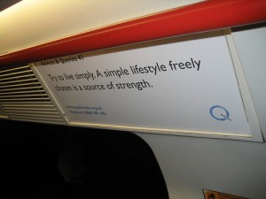 Advices & Queries extract on a London underground train