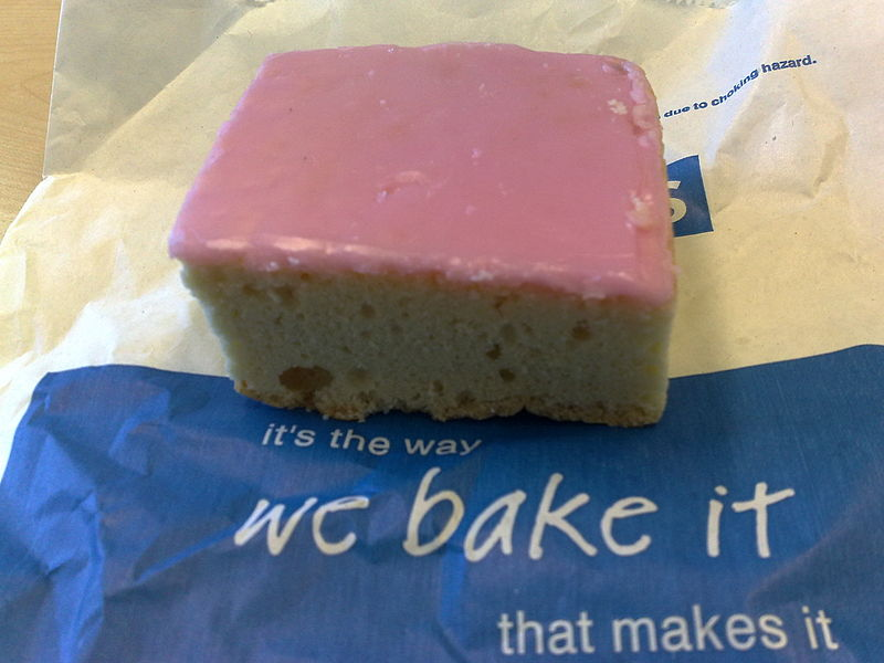 Quaker cake with its distinctive pink top. Photo: diadoco/CC