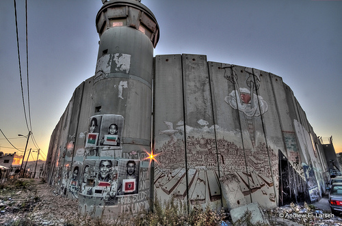 The separation barrier at Bethlehem. Photo: Andrew E Larsen/flickr CC