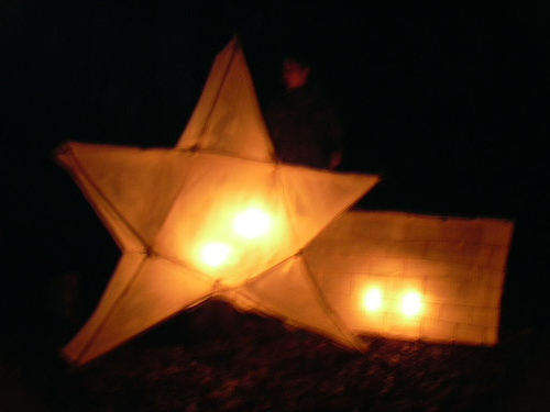 sky lantern star