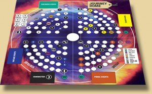 The board game grid for Journey Home