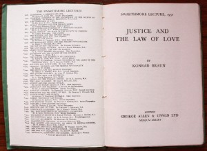 Swarthmore Lecture 1950 first page